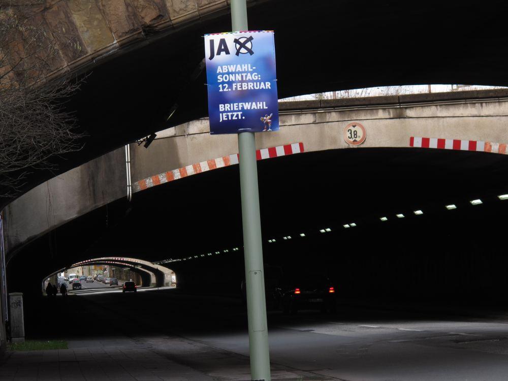 Duisburg - Tunnel Karl-Lehr-Strasse - Ja zur Abwahl