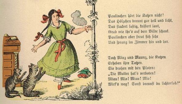 http://de.wikisource.org/wiki/Der_Struwwelpeter/Die_gar_traurige_Geschichte_mit_dem_Feuerzeug