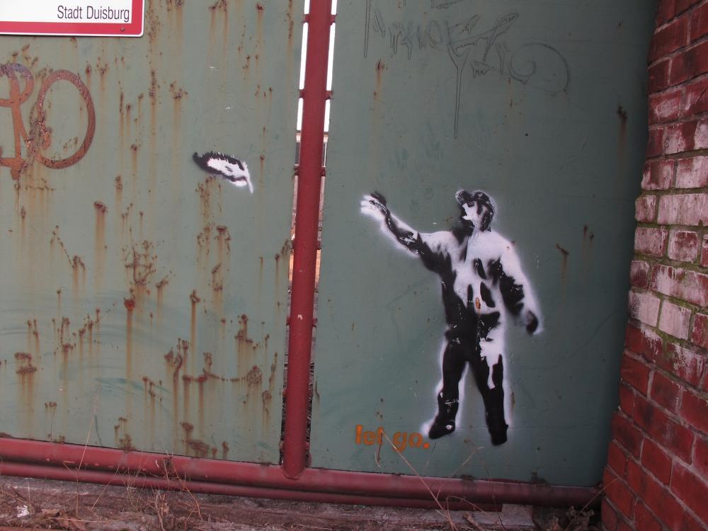 Graffito let go., DU-Wanheimerort, Foto (c) Hafenstaedter 2012