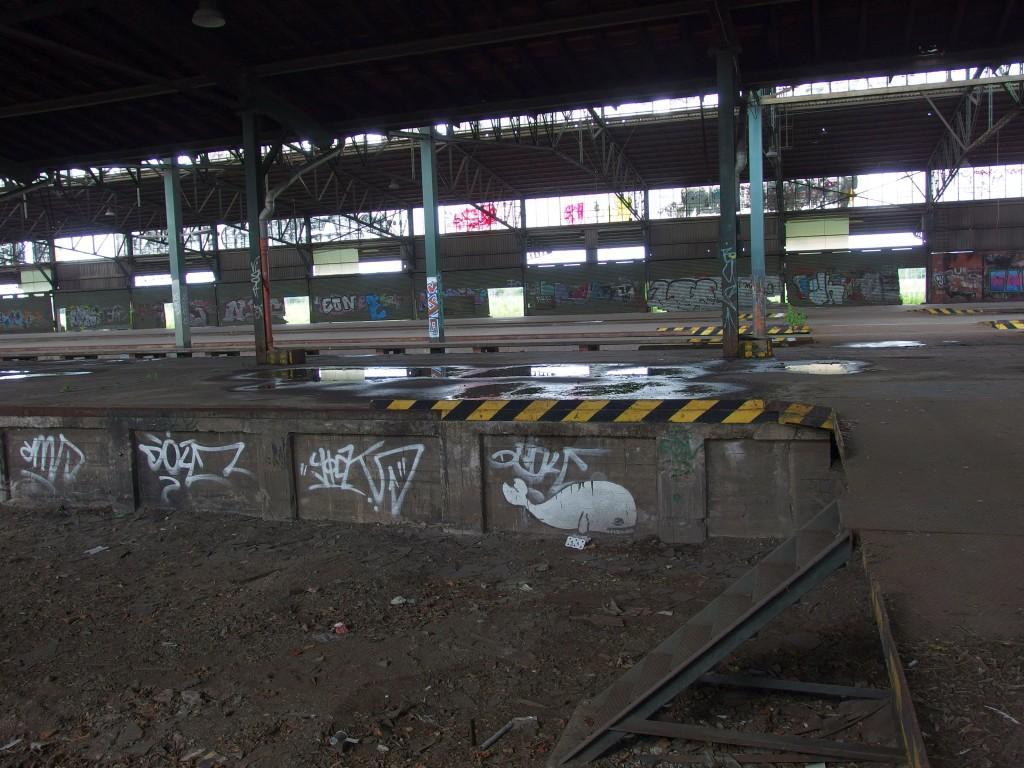 Güterabfertigung Duisburg Hauptbahnhof. Juli 2014. Foto (c) Hafenstaedter.