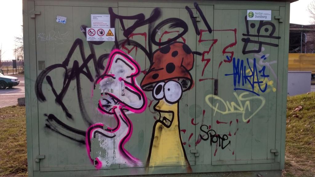 Graffiti Duisburg graffiti hafenstadt
